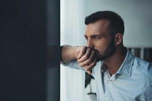Man thinking about ex girlfriend